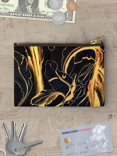 Painting of golden leaves   Fashion Bag   Clutch   bag organizer   Art Purse   design by @anoellejay @redbubble   Holiday gifting & Christmas presents