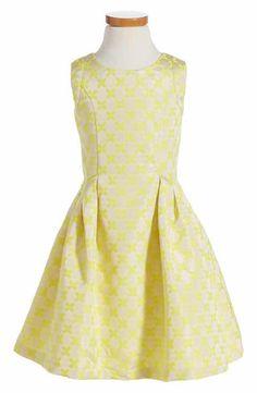Little Angels Brocade Dress (Toddler Girls & Little Girls)