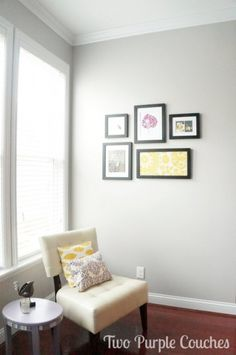 Behr's Natural Gray - Family Room Moulding & Paint