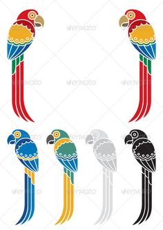 Buy Parrots by Malchev on GraphicRiver. You can place title or other text between those two decorative parrots. Tribal Art, Geometric Art, Bird Design, Wall Design, Graphic Design Layouts, Hand Embroidery Designs, Indian Art, Pattern Art, Line Art