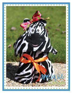 Zebra Horse Face Applique Design