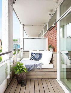 Ideas For Apartment Patio Decor Tiny Balcony Inspiration Apartment Balcony Garden, Tiny Balcony, Apartment Balcony Decorating, Outdoor Balcony, Apartment Balconies, Outdoor Spaces, Balcony Ideas, Indoor Outdoor, Balcony Bench