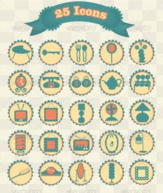 Buy Retro Decorative Household Icons by monetlynn on GraphicRiver. Files Include: Illustrator, 8 eps, 10 eps, ai and eps. Three editable layers which are clearly. Telephone Vintage, Dresser, Graphic Design Art, Frame, Household, Illustration, Random Stuff, Vectors, Fonts