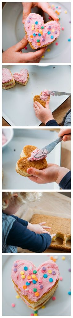 Kid-Made Recipe: Heart-Shaped Mini Cakes