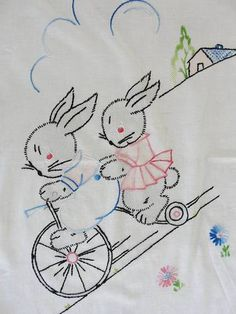 "Bunnies on a bike --- #Rabbits (FOR ""riding bikes"" series)"