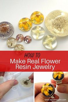 The Beading Gems Journal: How to Make Real Flower Resin Jewelry Schmuck im Wert . - Make Jewelry , The Beading Gems Journal: How to Make Real Flower Resin Jewelry Schmuck im Wert . The Beading Gems Journal: How to Make Real Flower Resin Jewelry Sc. Diy Resin Crafts, Jewelry Crafts, Diy And Crafts, Handmade Jewelry, Crafts To Make And Sell, How To Make Resin, Recycled Jewelry, Resin Jewlery, Resin Jewelry Making