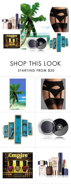 """""""Time is like the Ocean,you can only hold a little in your hands."""" by utitito on Polyvore featuring Hanky Panky, House of Harlow 1960, Chanel, Deborah Lippmann and Estée Lauder"""
