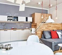 59 m2 na nowo - Salon, styl skandynawski - zdjęcie od LIVING BOX