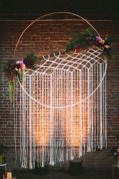 decoração de casamento com artesanato - boho