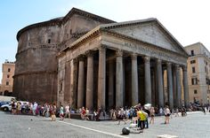 The Pantheon burned down in 80 AD but was rebuilt by Emperor Domitian. In 110 AD the building was struck by lightning and burned down again.