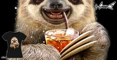 T-shirts - Design: SLOTH & SOFT DRINK - by: ADAM LAWLESS