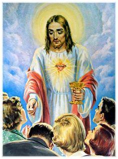 """12ª Promessa: """"A todos os que comunguem nas primeiras sextas-feiras de nove meses consecutivos, darei a graça da perseverança final e da salvação eterna""""."""