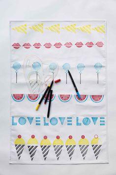 Sweet Tea Towel Stencil Kit - yellow owl workshop