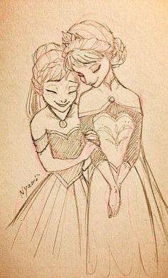 35 trendy Disney Elsa Sisters drawing - Drawing Still 2020 Disney Drawings Sketches, Frozen Drawings, Cartoon Drawings, Disney Princess Frozen, Disney Princess Drawings, Drawing Disney, Disney Princesses, Anna Frozen, Arte Disney
