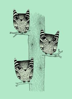 three owls by Juliette Dudley