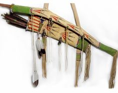 Native American Buffalo Warrior Bow Cover  Quiver Set