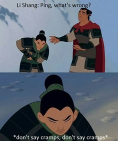 This made me laugh a bit harder than intended. mulan memes are the best Funny Disney Jokes, Disney Memes, Stupid Funny Memes, Disney Quotes, Funny Relatable Memes, Disney Princess Memes, Funny Stuff, Funny Humor, Disney Channel