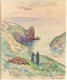 """""""Ramasseuses De Goémon à Kergalat"""",  by Henri Moret"""