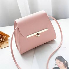 Details about  /Pure Color Cross Body Bags Messenger Bag PU Leather Handbag Card Package