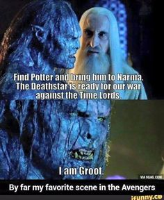 Find Potter and Liring Him to Narnia the Deathstar Is Ready for Our War Against the Time Lords I Am Groot Wait What? Narnia, 9gag Funny, Funny Jokes, Funny Troll, Funny Laugh, Funny Cartoons, Funny Gifs, John Green Movies, I Am Groot