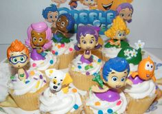 Nickelodeon Bubble Guppies Deluxe Figure Set of 10 Cake Toppers Cupcake Toppers Party Decorations ** You can get more details at : baking decorations