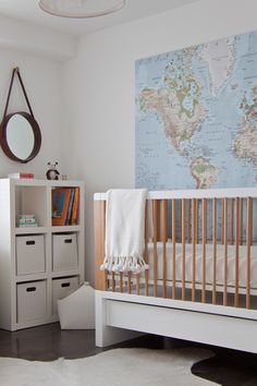 This Is The World Map Which Already In Her Room Nursery Modern Minimalist