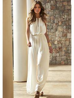 White chic jumpsuit
