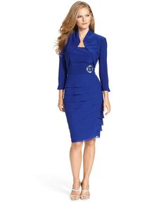 8a1980903789 Jessica Howard Sleeveless Tiered Dress and Jacket - Dresses - Women - Macy s
