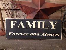 Primitive Country Handmade Family Sign Farmhouse  Decor