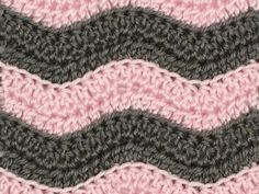 ribbed ripple crochet pattern by planetjune
