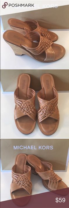 ❤️MICHAEL KORS WEDGES 💯AUTHENTIC MICHAEL KORS LOVELY TAN WEDGES 100% AUTHENTIC. STUNNING AND STYLISH. TRUE HIGH END STYLE! THEY ARE TAN AND ARE A SIZE 9 M Michael Kors Shoes Wedges
