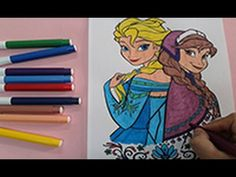 Coloring Pages Of Princess : Frozen colouring pages how to color disney princess anna