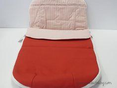 Saco Alves silla de paseo desmontable rayas rojo ref. 792