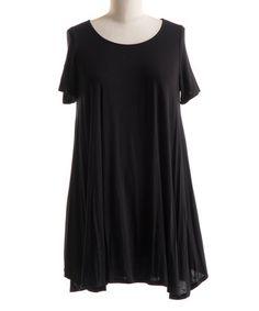 Love this Black Swing Tunic Dress - Plus on #zulily! #zulilyfinds