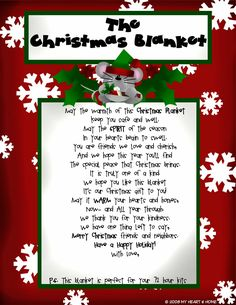 """The Christmas Blanket"" Poem to Give with a Blanket"