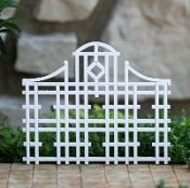 Miniature White Wood Trellis  I think I can finally afford my dream garden - in miniature
