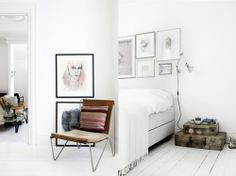 interior / Source: My Scandinavian Retreat Both so intriguing. The chair and the vintage suitcases really catch my eye :)