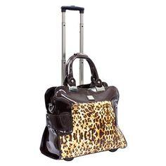 Emelia Leopard Rolling Fashion Travel Satchel