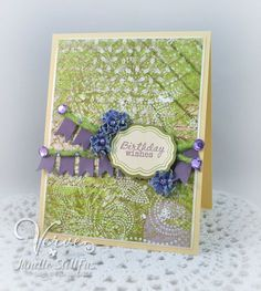 Birthday card by Janelle Stollfus using stamps and dies from Verve Stamps. #vervestamps