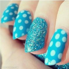 Blue Polka Dot Nails Pictures, Photos, and Images for Facebook ...