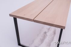 Minimal design birch plank table. Design by Puuartisti, Finland.