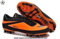 New White Black/Yellow Nike Hypervenom Phelon AG Jnr Boots 2014 Soccer Cleats