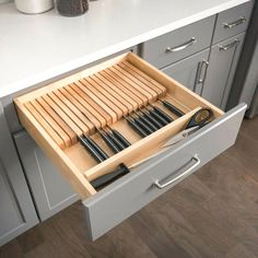 "$86.63 · You'll love the Knife 2.38""H x 18.5""W x 22""D Drawer Organizer at Wayfair - Great Deals on all Storage & Organization products with Free Shipping on most stuff, even the big stuff. #storageideas #kitchen"