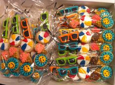 mini summer cookie 4 packs! ADORABLE end of year class-mate or teacher gifts!  -- HayleyCakes And Cookies