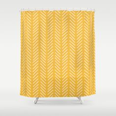 Buy woodland yellow stripe Shower Curtain by huntleigh. Worldwide shipping available at Society6.com. Just one of millions of high quality products available.