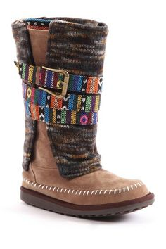 MUK LUKS Nikki Colorful Belt Wrapped Boot by Non Specific on @HauteLook
