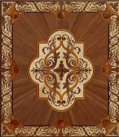 Forget decorative rugs, spice up your wood floor with a hand crafted medallion!