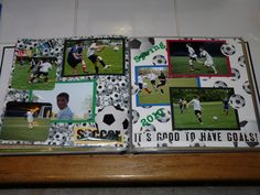 Scrapbook layout from Erik's Sr Scrapbook / Album - Soccer (page made by Debbie, the same one that made the great soccer pages I won in a raffle)