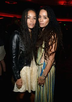 Pin for Later: Saint Laurent kriegt sie alle: Die Promis strömen zur Fashion Show nach LA Zoe Kravitz und Lisa Bonet
