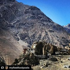 #Repost @myfleetfootposts with @repostapp Get featured by tagging your post with #talestreet Dhankar Monastery at an altitude of 12774 feet sitting on a 1000 feet spur overlooking the confluence of two rivers is considered to be one of the worlds most spectacular settings. World monuments fund considers this to be one of the 100 most endangered sites in the world and I would not doubt it. It is sitting on a crumbling cliff edge for the last 1000 years!  #dhankargompa #dhankarmonastery…